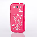Coque Samsung Galaxy S3 4G i9305 Papillon Plastique Etui Rigide - Rose Chaud