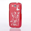 Coque Samsung Galaxy S3 4G i9305 Papillon Plastique Etui Rigide - Rouge