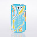 Coque Samsung Galaxy S3 4G i9305 Vague Plastique Etui Rigide - Bleue Ciel
