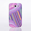 Coque Samsung Galaxy S3 4G i9305 Vague Plastique Etui Rigide - Pourpre