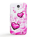 Coque Samsung Galaxy S4 i9500 i9505 Amour Diamant Bling Etui Rigide - Pourpre