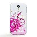 Coque Samsung Galaxy S4 i9500 i9505 Fleurs Diamant Bling Etui Rigide - Rose