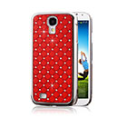 Coque Samsung Galaxy S4 i9500 i9505 Luxe Diamant Bling Etui Rigide - Rouge