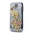 Coque Samsung Galaxy S4 i9500 i9505 Luxe Paon Diamant Bling Etui Rigide - Mixtes