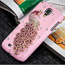 Coque Samsung Galaxy S4 i9500 i9505 Luxe Paon Diamant Bling Etui Rigide - Rose