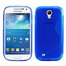 Coque Samsung Galaxy S4 Mini i9190 S-Line Silicone Gel Housse - Bleu