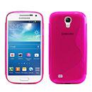 Coque Samsung Galaxy S4 Mini i9190 S-Line Silicone Gel Housse - Rose Chaud