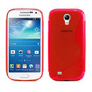 Coque Samsung Galaxy S4 Mini i9190 S-Line Silicone Gel Housse - Rouge