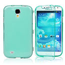 Coque Samsung Galaxy S4 S IV i9500 i9505 Flip Silicone Gel Housse - Bleue Ciel