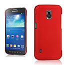 Coque Samsung Galaxy S5 Active G870 Plastique Etui Rigide - Rouge