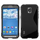 Coque Samsung Galaxy S5 Active G870 S-Line Silicone Gel Housse - Noire