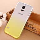 Coque Samsung Galaxy S5 i9600 Degrade Etui Rigide - Jaune