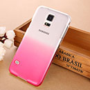 Coque Samsung Galaxy S5 i9600 Degrade Etui Rigide - Rose
