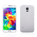 Coque Samsung Galaxy S5 i9600 S-Line Silicone Gel Housse - Blanche