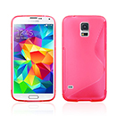 Coque Samsung Galaxy S5 i9600 S-Line Silicone Gel Housse - Rose Chaud