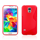 Coque Samsung Galaxy S5 i9600 S-Line Silicone Gel Housse - Rouge