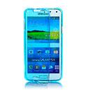 Coque Samsung Galaxy S5 Mini G800F Flip Silicone Gel Housse - Bleu