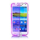 Coque Samsung Galaxy S5 Mini G800F Flip Silicone Gel Housse - Pourpre