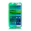 Coque Samsung Galaxy S5 Mini G800F Flip Silicone Gel Housse - Verte