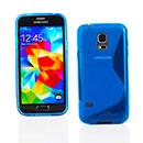 Coque Samsung Galaxy S5 Mini G800F S-Line Silicone Gel Housse - Bleu