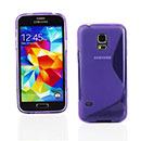 Coque Samsung Galaxy S5 Mini G800F S-Line Silicone Gel Housse - Pourpre