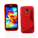 Coque Samsung Galaxy S5 Mini G800F S-Line Silicone Gel Housse - Rouge