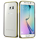 Coque Samsung Galaxy S6 Edge G925F G9250 Cadre Metal Plated Etui Rigide - Noire