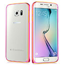 Coque Samsung Galaxy S6 Edge G925F G9250 Cadre Metal Plated Etui Rigide - Rose Chaud