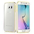 Coque Samsung Galaxy S6 Edge G925F G9250 Cadre Metal Plated Etui Rigide - Silver