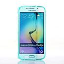 Coque Samsung Galaxy S6 Edge G925F G9250 Flip Silicone Gel Housse - Verte