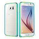 Coque Samsung Galaxy S6 G920F Cadre Metal Plated Etui Rigide - Bleue Ciel