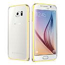 Coque Samsung Galaxy S6 G920F Cadre Metal Plated Etui Rigide - Silver