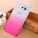 Coque Samsung Galaxy S6 G920F Degrade Etui Rigide - Rose Chaud