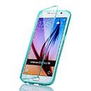 Coque Samsung Galaxy S6 G920F Flip Silicone Gel Housse - Verte