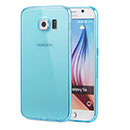 Coque Samsung Galaxy S6 G920F Silicone Transparent Housse - Bleue Ciel