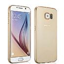 Coque Samsung Galaxy S6 G920F Silicone Transparent Housse - Golden