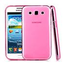 Coque Samsung Galaxy Win Duos i8550 i8552 Silicone Transparent Housse - Rose