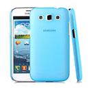 Coque Samsung Galaxy Win Duos i8550 i8552 Transparent Plastique Etui Rigide - Bleue Ciel