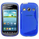 Coque Samsung Galaxy Xcover 2 S7710 S-Line Silicone Gel Housse - Bleu