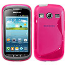 Coque Samsung Galaxy Xcover 2 S7710 S-Line Silicone Gel Housse - Rose Chaud