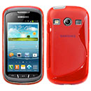 Coque Samsung Galaxy Xcover 2 S7710 S-Line Silicone Gel Housse - Rouge