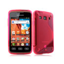 Coque Samsung Galaxy Xcover S5690 S-Line Silicone Gel Housse - Rouge