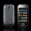 Coque Samsung i5800 i5801 Teos Naos Diamant Silicone Gel Housse - Claire