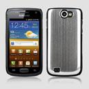 Coque Samsung i8150 Galaxy W Aluminium Metal Plated Housse Rigide - Blanche