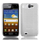 Coque Samsung i8150 Galaxy W Filet Plastique Etui Rigide - Blanche