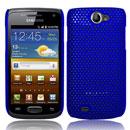 Coque Samsung i8150 Galaxy W Filet Plastique Etui Rigide - Bleu