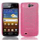 Coque Samsung i8150 Galaxy W Filet Plastique Etui Rigide - Rose
