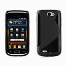 Coque Samsung i8150 Galaxy W S-Line Silicone Gel Housse - Noire