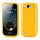Coque Samsung i8150 Galaxy W Silicone Gel Housse - Jaune