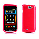 Coque Samsung i8150 Galaxy W Silicone Gel Housse - Rouge